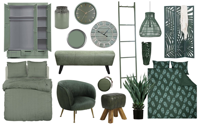 2020 home decor furnishings trend - shades of green