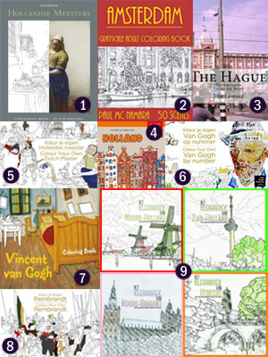 Amsterdam The Hague Holland Dutch Masters coloring books