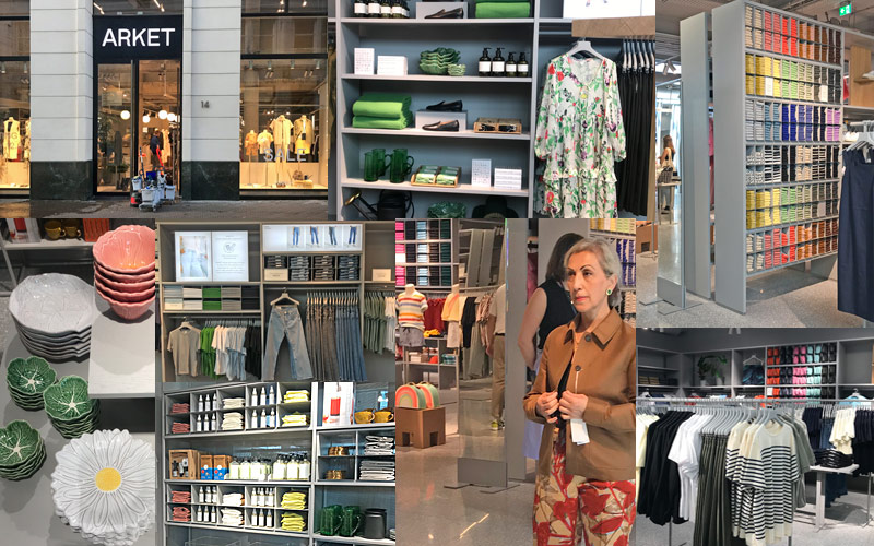 impressions from new Arket fashion store in The Hague Netherlands