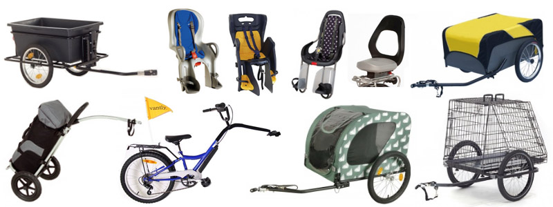 Dutch bicycle trailers and bike child seats in Netherlands