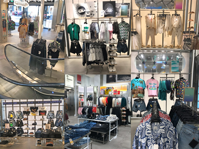 images from Pull & Bear store in The Hague Netherlands