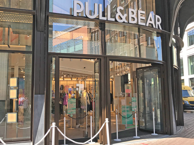 entrance of new Pull & Bear clothing store in The Hague Netherlands