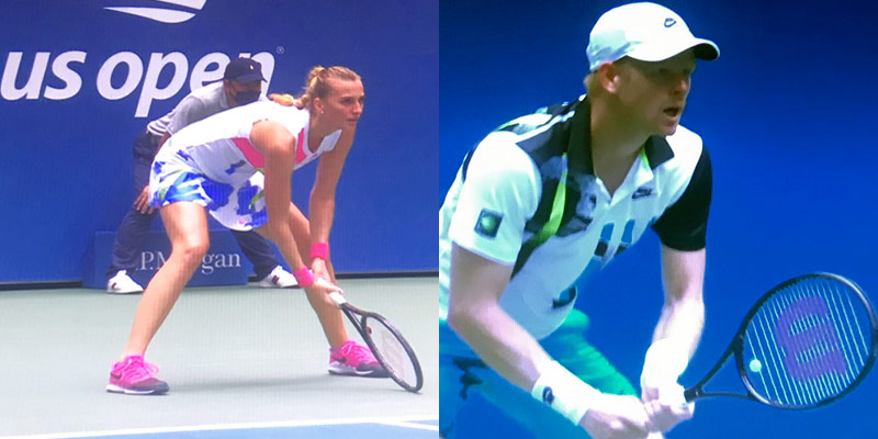 Petra Kvitova and Kyle Edmunds in Nike Challenge Court styles at 2020 U.S. Open