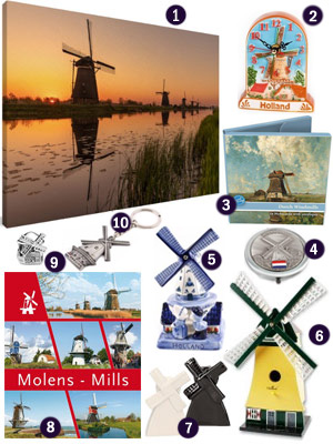 Dutch Holland windmill themed gifts souvenirs