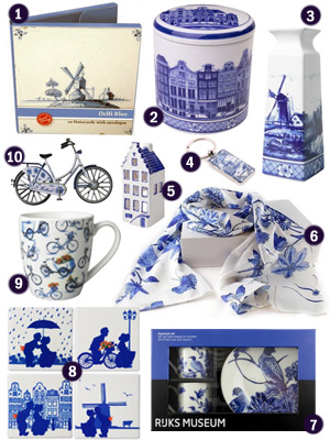 Holland Delft Blue-themed gifts souvenirs