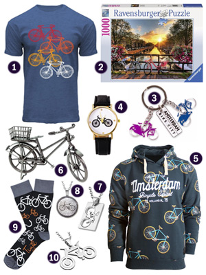Holland Netherlands bike-themed gifts souvenirs