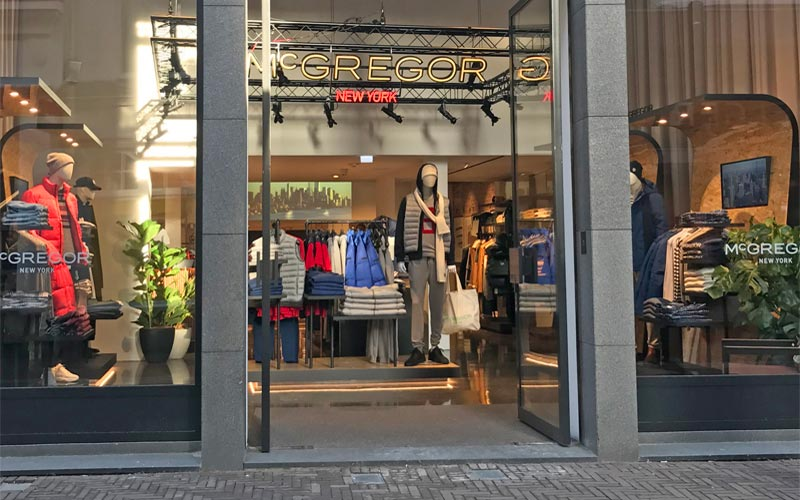 McGregor clothing store in The Hague Netherlands