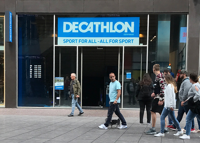 Decathlon sporting goods store in The Hague Netherlands