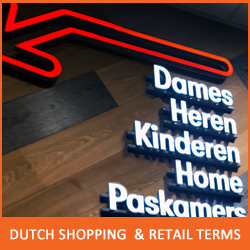 Dutch retail advertising shopping common words