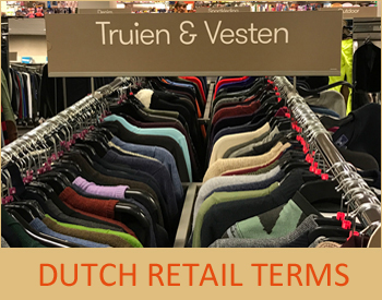 Dutch retail fashion advertising terminology