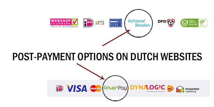 post-payment options on Dutch websites in Netherlands