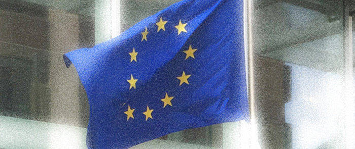 European Union flag flying in the Netherlands