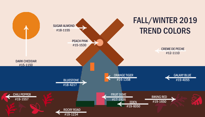Fall 2019 fashion trends colors