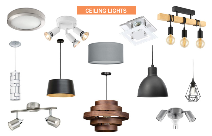 ceiling lights (plafondlampen) and hanging lamps retail stores Netherlands