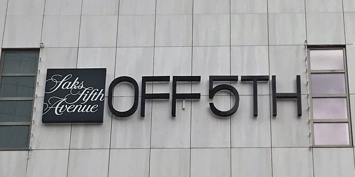 Saks Off 5TH store facade in Rotterdam Netherlands