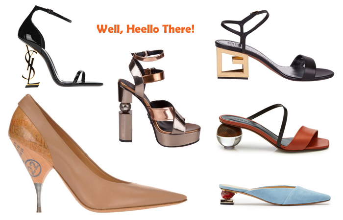 spring 2019 womens footwear trend - architectural sculpted heels