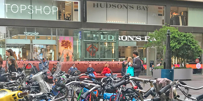 TopShop and Hudson's Bay department stores in The Hague Netherlands