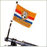 Dutch football oranje bike flag