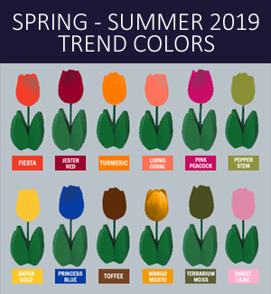 Spring 2019 Trend Colors Hollywood 2 Holland