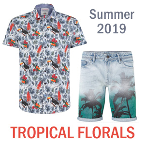 summer 2019 mens trend tropical floral prints Netherlands