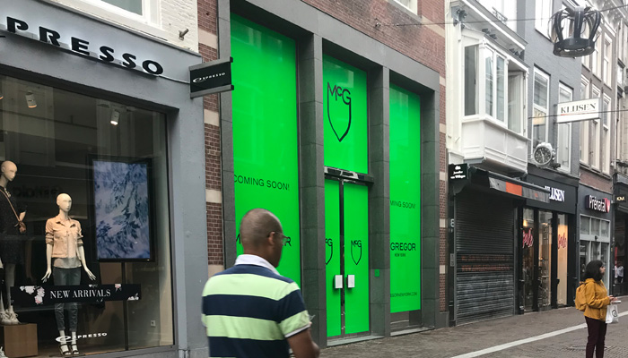 location of new McGregor lifestyle brand clothing store on Hoogstraat in The Hague Netherlands